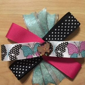 Other - Butterfly MultiColor MultiRibbon Hair Bow. 5/$20